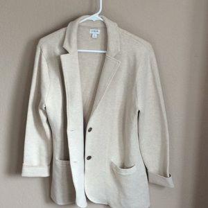 J Crew sweater blazer NWOT